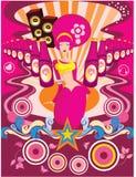 dziewczyny plakata purpury Fotografia Royalty Free