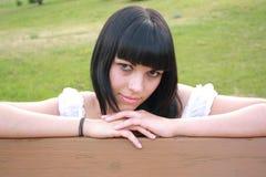 dziewczyny plciowy tanktop biel fotografia royalty free