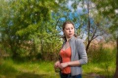dziewczyny podołka natura Fotografia Stock