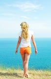 dziewczyny pomarańcze skróty Fotografia Stock