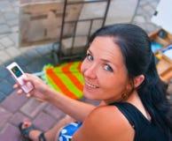 dziewczyny portreta obsiadania ja target2127_0_ Obrazy Stock