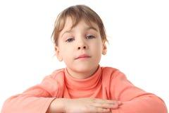 dziewczyny portreta poważny pulower cienki zdjęcie royalty free