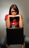 dziewczyny portreta studio Fotografia Stock