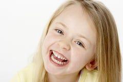 dziewczyny portreta uśmiechnięci potomstwa zdjęcie royalty free