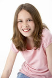 dziewczyny portreta uśmiechnięci potomstwa Obrazy Royalty Free