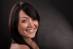 dziewczyny portreta uśmiech Zdjęcia Stock