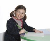 dziewczyny portreta writing Obrazy Royalty Free