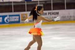 Dziewczyny postaci łyżwiarka, Fotografia Stock