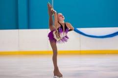 Dziewczyny postaci łyżwiarka, Orenburg, Rosja Zdjęcie Royalty Free