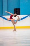 Dziewczyny postaci łyżwiarka, Orenburg, Rosja Obrazy Royalty Free