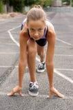 dziewczyny preteen bieg Zdjęcie Stock