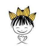 Dziewczyny princess z koroną na głowie dla twój projekta ilustracji