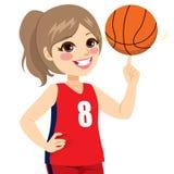 Dziewczyny Przędzalniana koszykówka ilustracja wektor