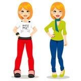 dziewczyny przypadkowy redhair ilustracja wektor