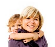 dziewczyny przytulenia matka Zdjęcie Stock