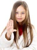 dziewczyny ręka pokazywać Zdjęcie Royalty Free