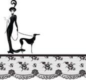dziewczyny ramowa koronka Obraz Royalty Free