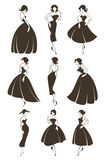 dziewczyny retro ilustracji