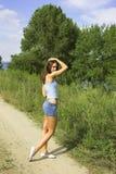 dziewczyny road Zdjęcie Royalty Free