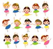 Dziewczyny Robi baletowi ilustracji