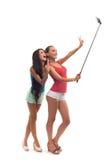 Dziewczyny robią selfie w studiu Zdjęcia Stock