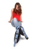 dziewczyny rolownika łyżwy Obrazy Stock