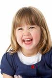 dziewczyny roześmiani portreta studia potomstwa zdjęcie royalty free