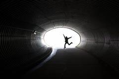 dziewczyny ruchu tunel Zdjęcie Stock