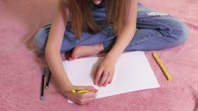 Dziewczyny rysunkowy żółty słońce zdjęcie wideo