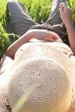 dziewczyny słońce Fotografia Stock