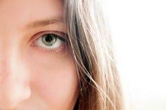 Dziewczyny ` s bielu i oka tło Obraz Stock