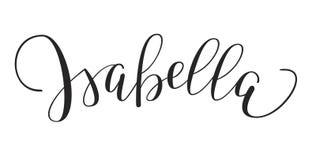 Dziewczyny ` s imię - Isabella ilustracja wektor