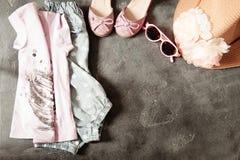 Dziewczyny ` s strój, Przypadkowy strój dla berbeć dziewczyn Fotografia Stock