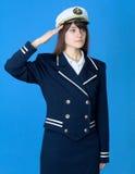 dziewczyny salutów morza mundur Zdjęcie Stock