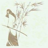 dziewczyny samurajów kordzik Zdjęcie Stock