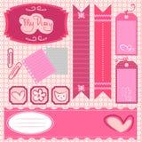 dziewczyny scrapbook set Royalty Ilustracja