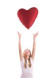dziewczyny serca czerwień Obraz Royalty Free