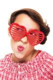 dziewczyny serca kształtni okulary przeciwsłoneczne fotografia royalty free