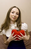 dziewczyny serca prasy zdjęcie royalty free