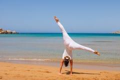 dziewczyny się jogi Obraz Royalty Free