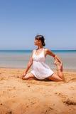 dziewczyny się jogi Zdjęcie Stock