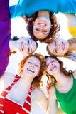 dziewczyny się zjednoczyć Fotografia Royalty Free