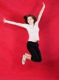 dziewczyny skoczyć radości Obrazy Royalty Free