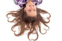 dziewczyny smilling szczęśliwy mały obrazy royalty free