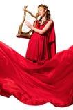 dziewczyny smokingowa czerwień Zdjęcie Stock
