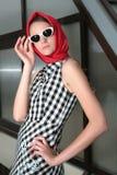 dziewczyny smokingowa szkocka krata Fotografia Stock