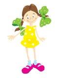 dziewczyny smokingowej mały żółty Obraz Stock