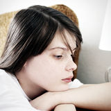 dziewczyny smutne nastolatków Zdjęcie Royalty Free