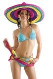 dziewczyny sombrero lato obraz stock