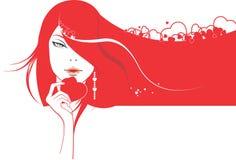 dziewczyny splendoru serce royalty ilustracja